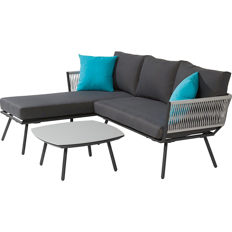 Couch Auflagen: Sofa-Gruppe Willow Lake Inkl. Auflagen Und Kissen 3-tlg