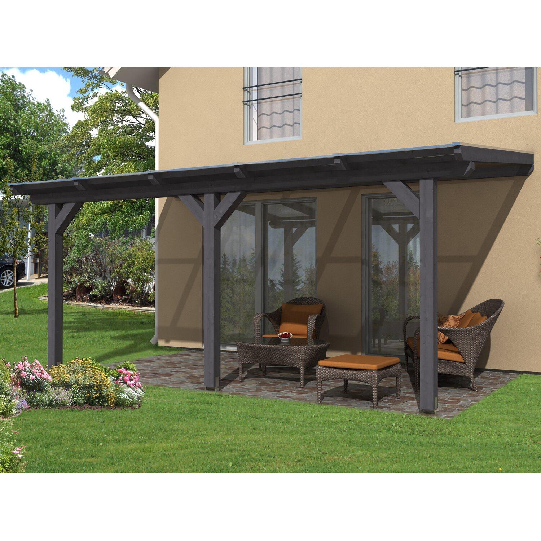 skan holz terrassen berdachung andria 541 x 350 cm leimholz schiefergrau kaufen bei obi. Black Bedroom Furniture Sets. Home Design Ideas