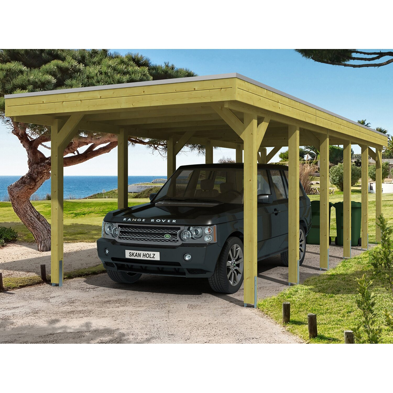 skan holz carport friesland 314 cm x 860 cm kaufen bei obi. Black Bedroom Furniture Sets. Home Design Ideas