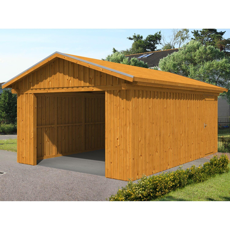skan holz holzgarage falun 393 cm x 549 cm mit schalung eiche hell kaufen bei obi. Black Bedroom Furniture Sets. Home Design Ideas