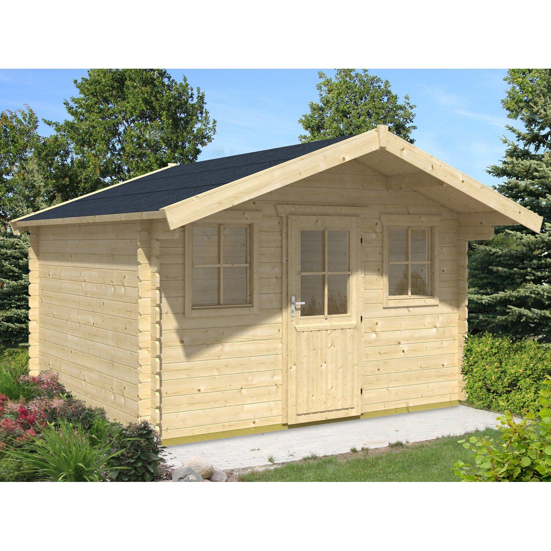 skan holz holz gartenhaus lagos 2 natur b x t 340 cm x 340 cm kaufen bei obi. Black Bedroom Furniture Sets. Home Design Ideas