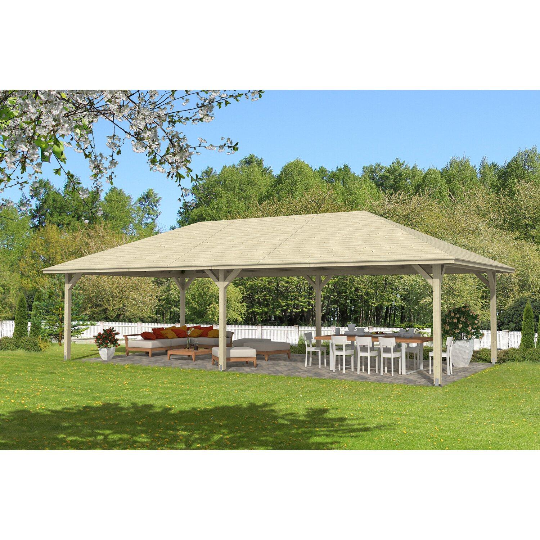 skan holz holz pavillon orleans 4 natur unbehandelt 489 cm x 966 cm kaufen bei obi. Black Bedroom Furniture Sets. Home Design Ideas