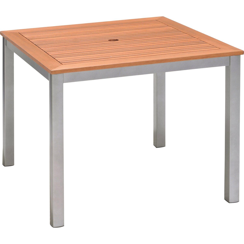 obi holz gartentisch harris 90 cm x 90 cm silber kaufen bei obi. Black Bedroom Furniture Sets. Home Design Ideas