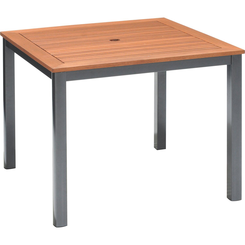OBI Holz-Gartentisch Harris 90 Cm X 90 Cm Anthrazit Kaufen