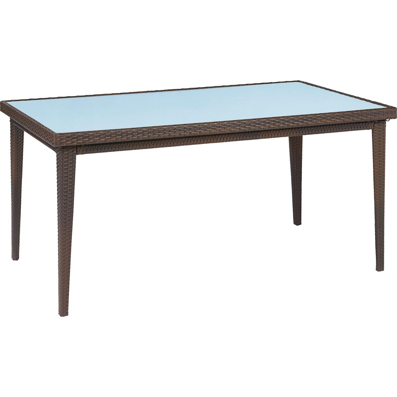 obi gartentisch davenport mit glasplatte graphit 75 cm x 160 cm x 90 cm kaufen bei obi. Black Bedroom Furniture Sets. Home Design Ideas