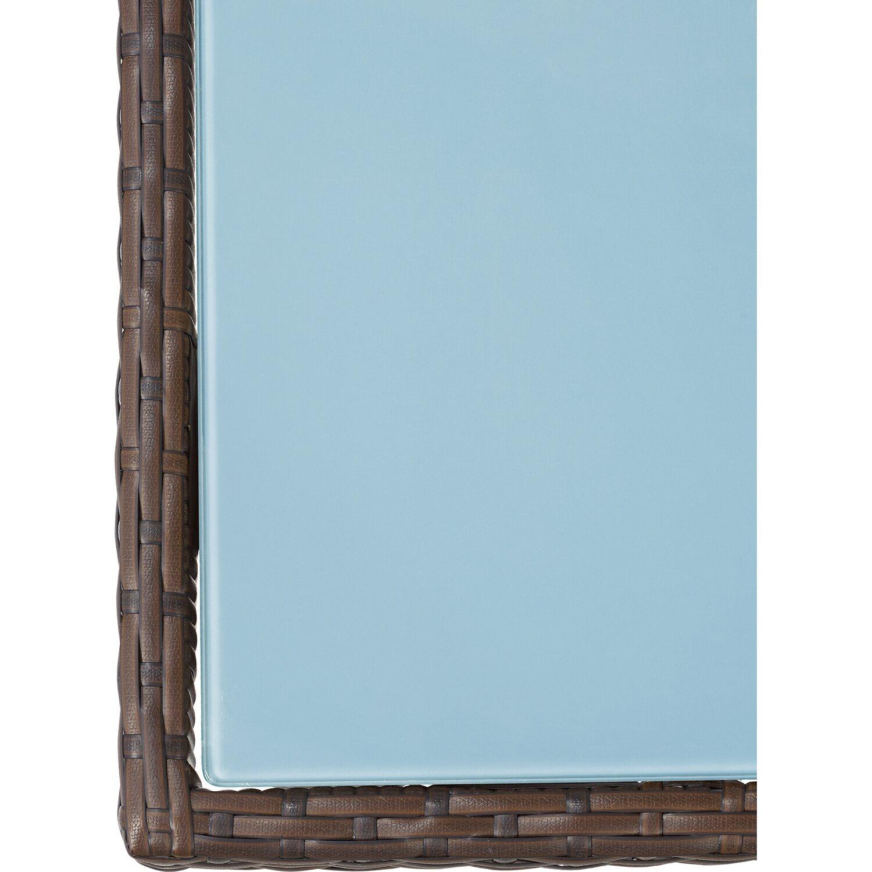 OBI Gartentisch Davenport mit Glasplatte Graphit 75 cm x 160 cm x 90 ...