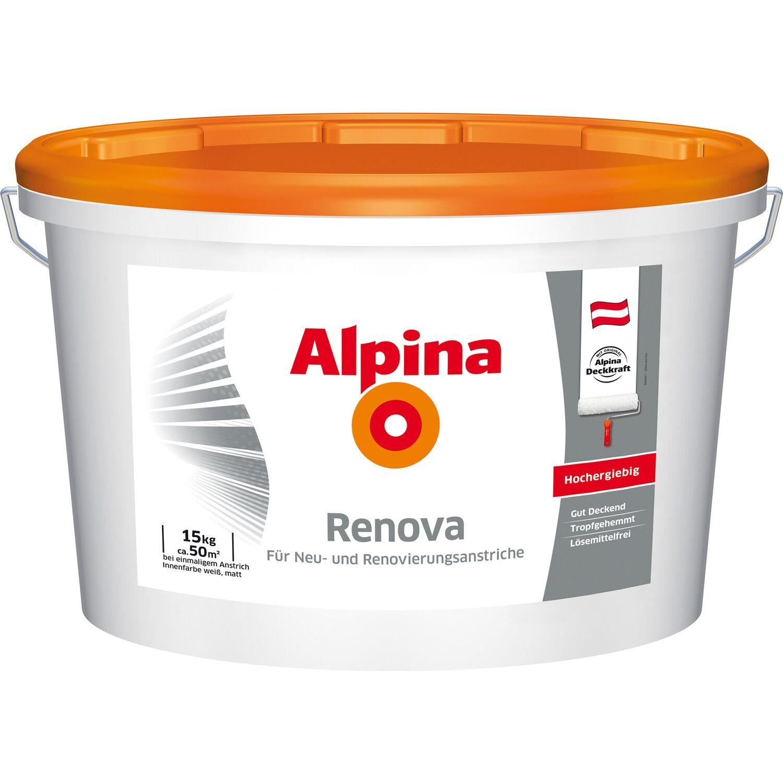 alpina innenfarbe renova weiß matt 15 kg kaufen bei obi