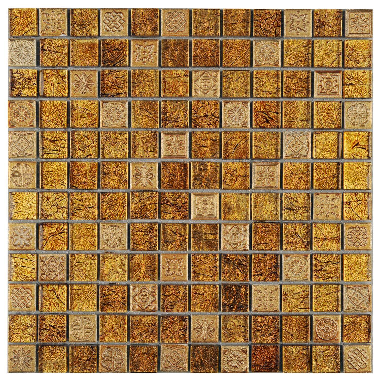 mosaik glas stein inka gold relief 30 cm x 30 cm kaufen. Black Bedroom Furniture Sets. Home Design Ideas
