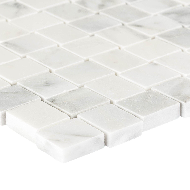 mosaik marmor basketwave 3d wei poliert 29 cm x 29 cm. Black Bedroom Furniture Sets. Home Design Ideas