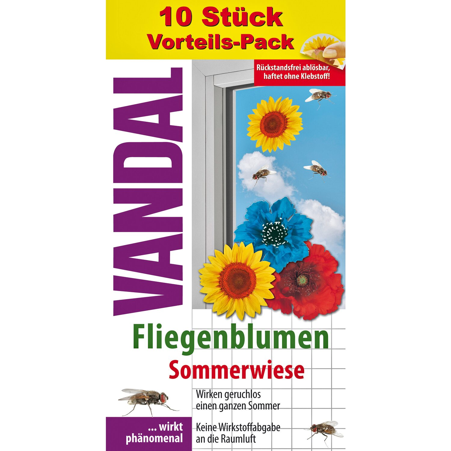 vandal fenster fliegenblumen sommerwiese 10 st ck kaufen. Black Bedroom Furniture Sets. Home Design Ideas