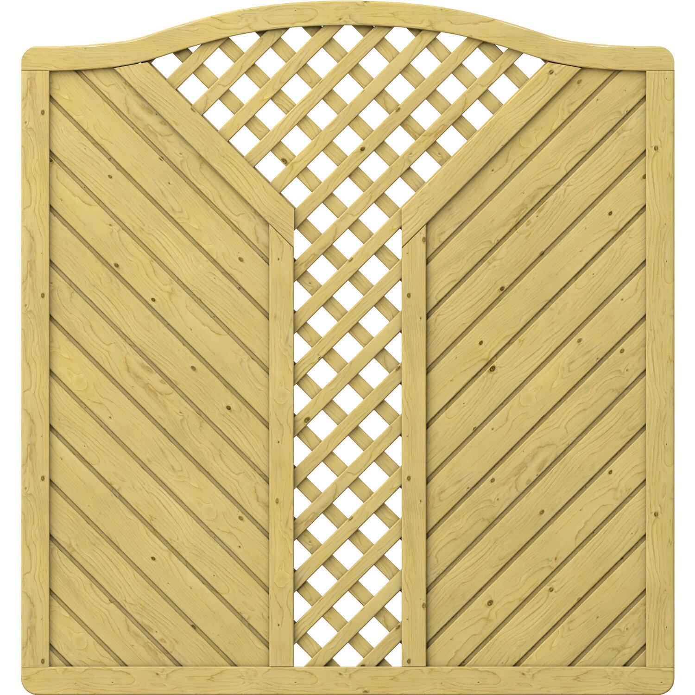 Sichtschutzzaun Element Gada Krone Mit V Gitter 179 Cm X 179 193