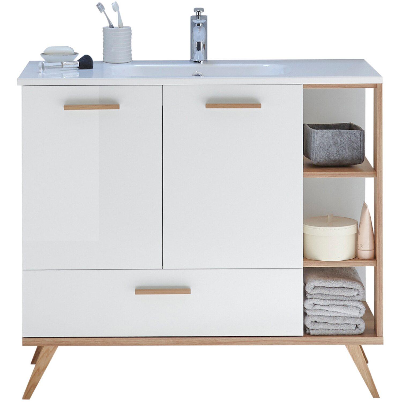 Brilliant Waschbeckenunterschrank Galerie Von Pelipal 100,5 Cm Noventa Weiß Glanz