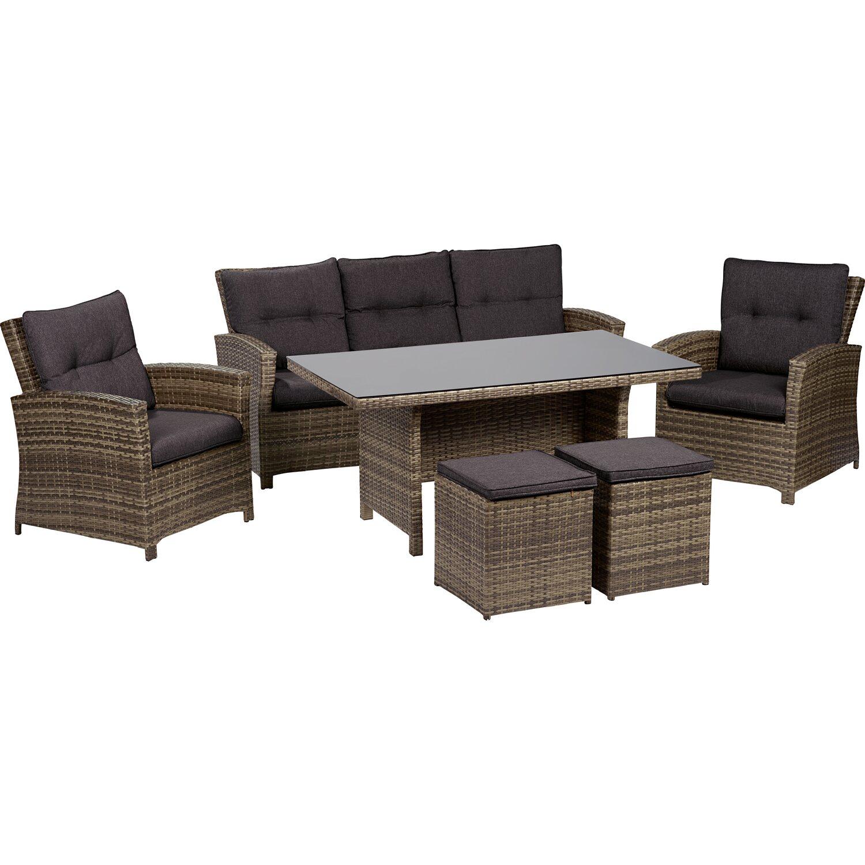 obi esstisch lounge gruppe vermont shadow dark night polyrattan 6 tlg kaufen bei obi. Black Bedroom Furniture Sets. Home Design Ideas