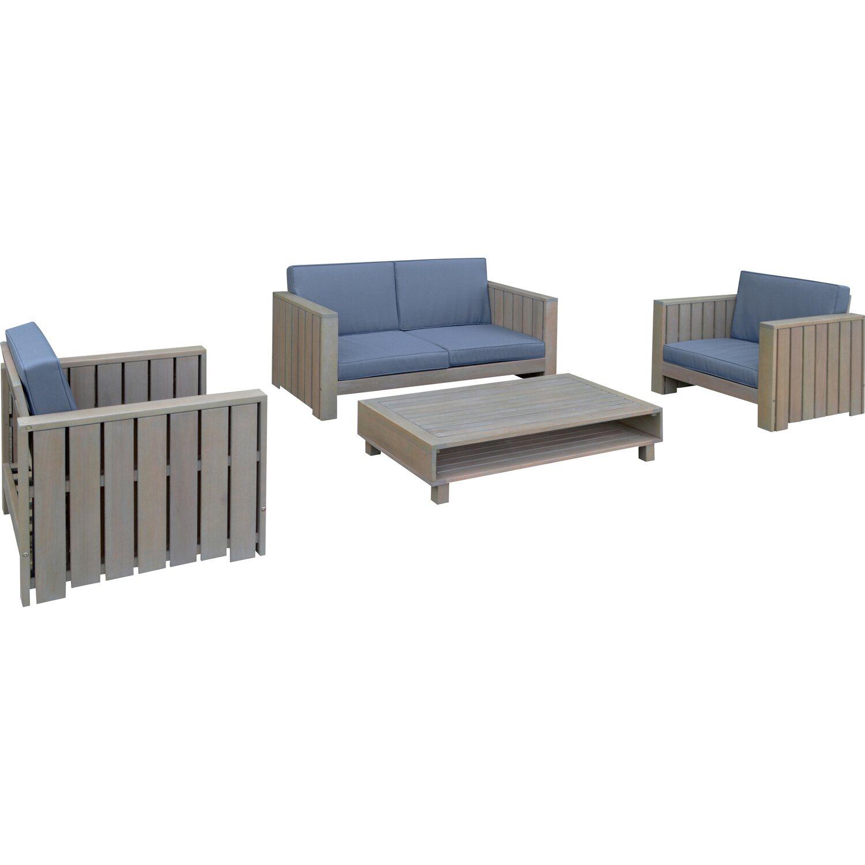 obi lounge gruppe tanville eukalyptus 4 tlg kaufen bei obi. Black Bedroom Furniture Sets. Home Design Ideas
