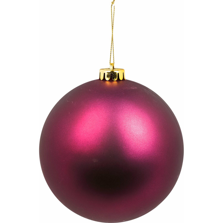 Weihnachtskugeln Xxl.Xxl Baumkugel ø 20 Cm Lila Kaufen Bei Obi