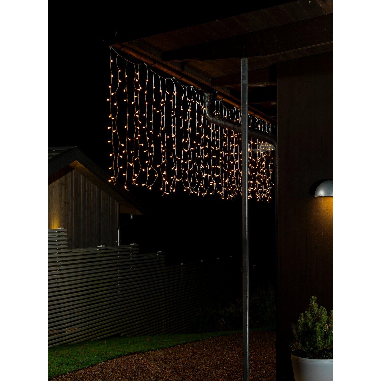 konstsmide led globe lichtervorhang 200 dioden warmwei. Black Bedroom Furniture Sets. Home Design Ideas