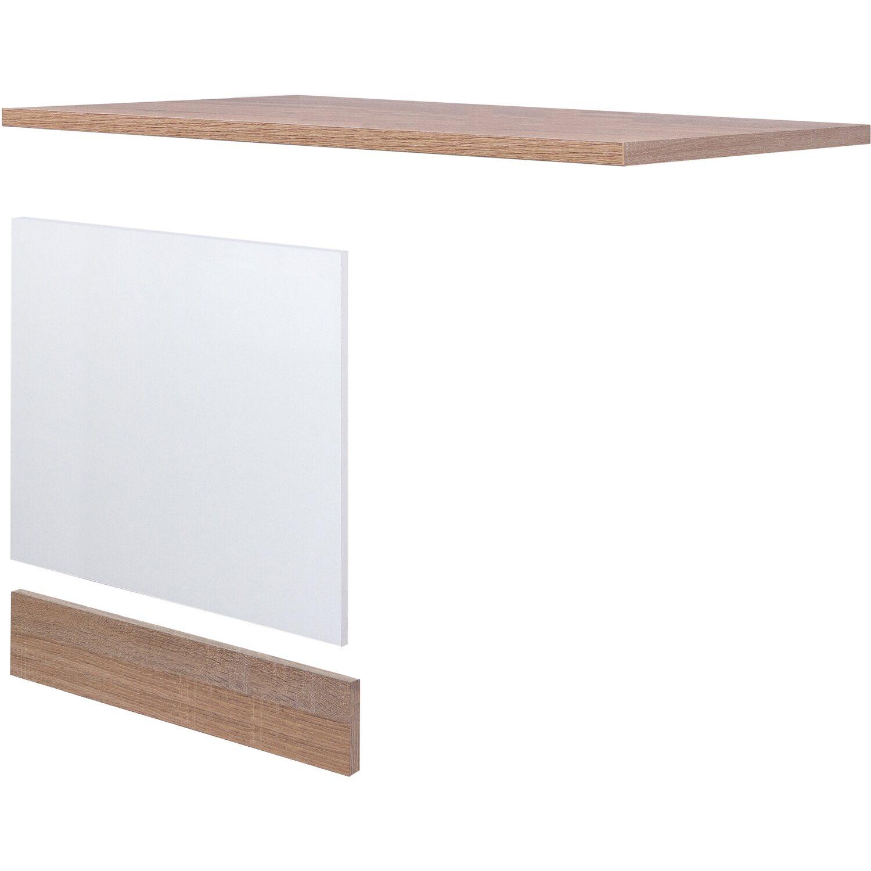 flex well classic geschirrsp ler paket teilintegriert florida wei sonoma eiche kaufen bei obi. Black Bedroom Furniture Sets. Home Design Ideas