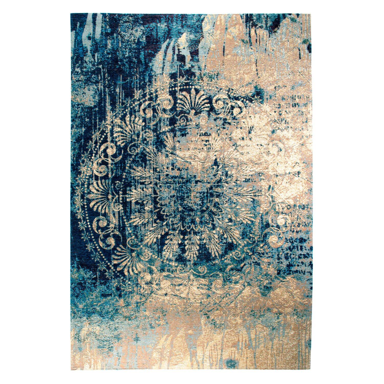 Sonstige Teppich Velvet Beige-Blau 160 cm x 235 cm