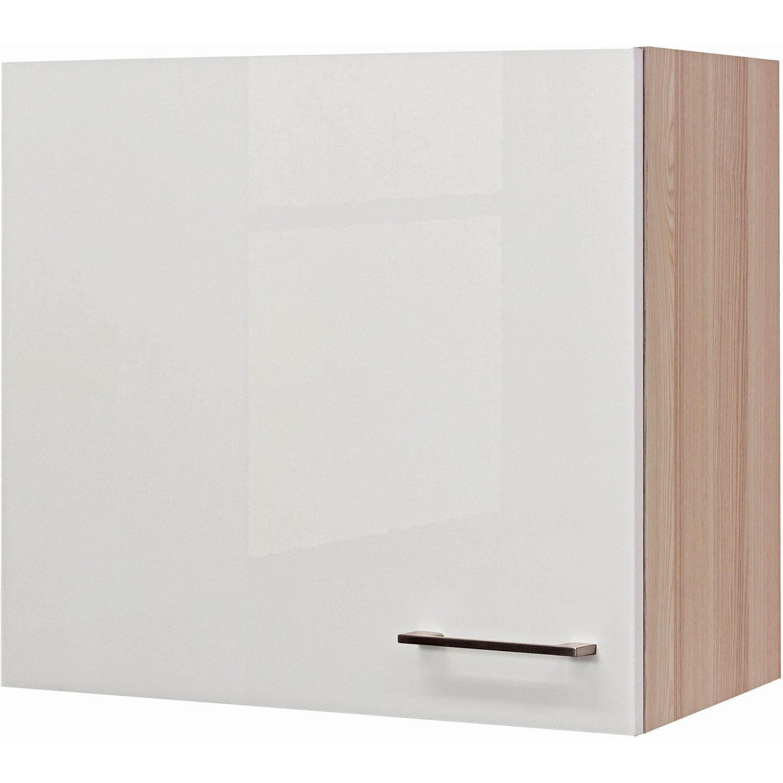 Flex Well Exclusiv Flex-Well Exclusiv Oberschrank Abaco 60 cm x 54 cm Perlmutt glänzend-Akazie