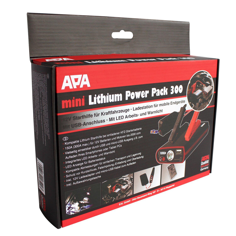 Das APA Mini Lithium Powerpack ist der ideale Helfer bei