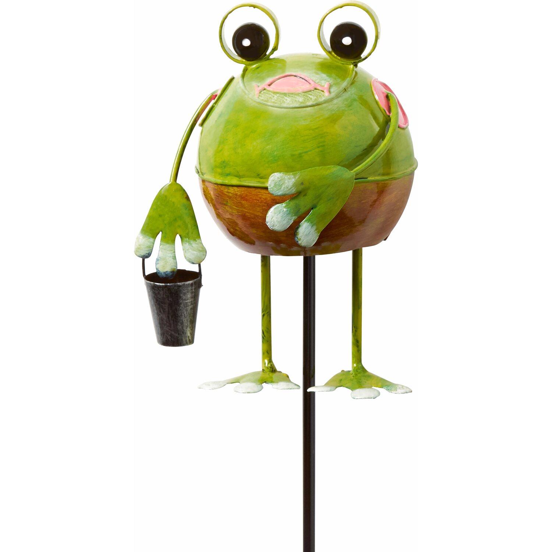 Deko-Stecker Frosch 65 cm Grün