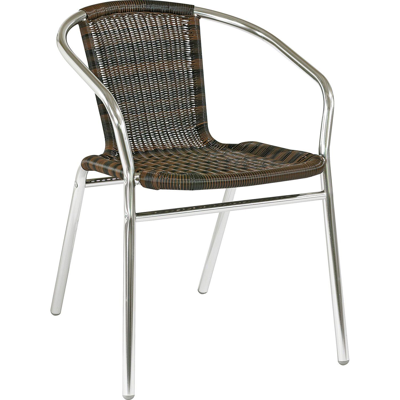 cmi bistro stuhl aus aluminium mit kunststoff geflecht. Black Bedroom Furniture Sets. Home Design Ideas