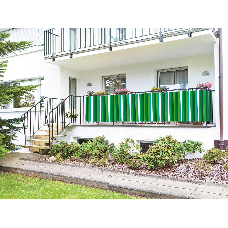 Balkonbespannung Grun Weiss 90 Cm X 500 Cm Kaufen Bei Obi
