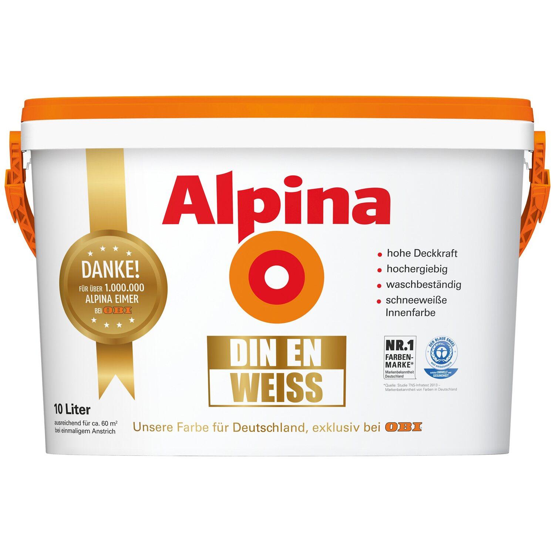 Alpina  DIN-EN Weiß matt 10 l