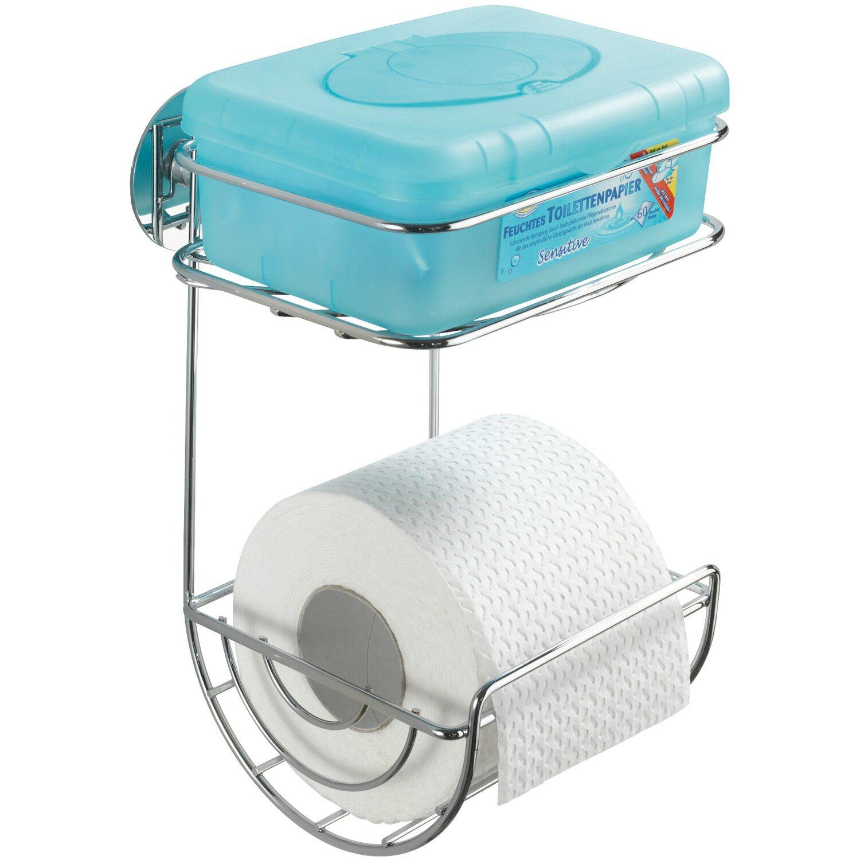 wenko wc papierhalter turbo loc befestigen ohne bohren chrom m ablage kaufen bei obi. Black Bedroom Furniture Sets. Home Design Ideas