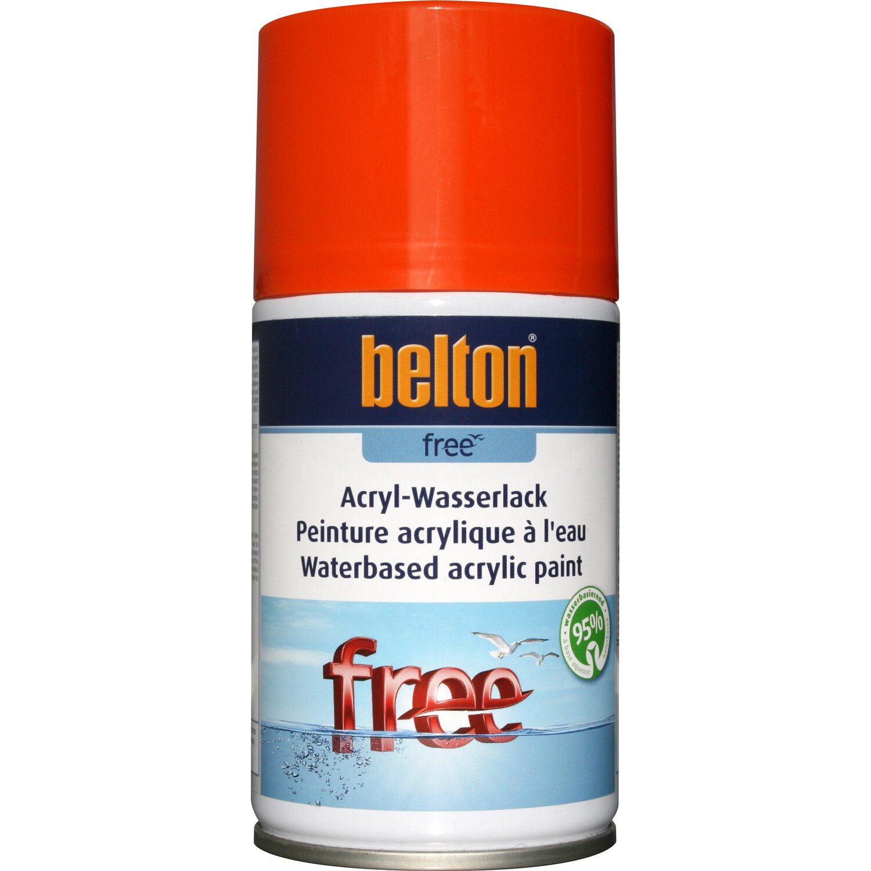 belton Belton Free Acryl-Wasserlack Reinorange hochglänzend 250 ml