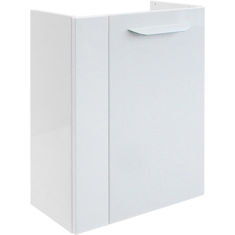 Fackelmann  Gäste-Waschbeckenunterschrank rechts 44 cm Lavella Weiß