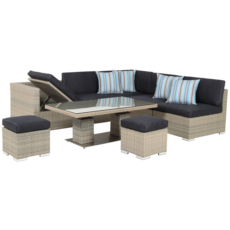 Acamp lounge set sardinia 8 teilig kaufen bei obi for Gartenmobel lounge set