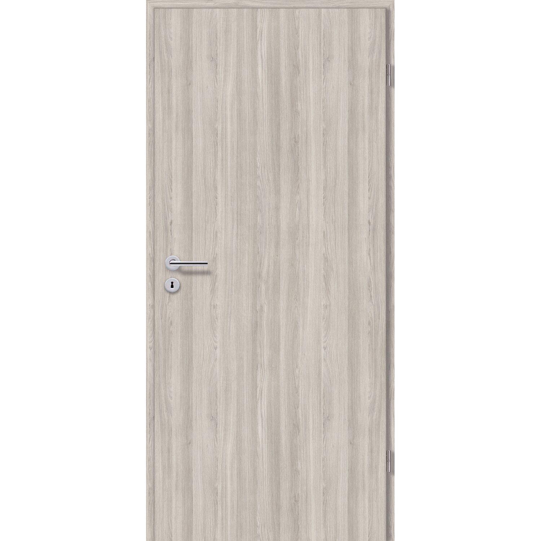 Zimmertür CPL Eiche Silber Holznachbildung 75 Cm X 203 Cm, Links