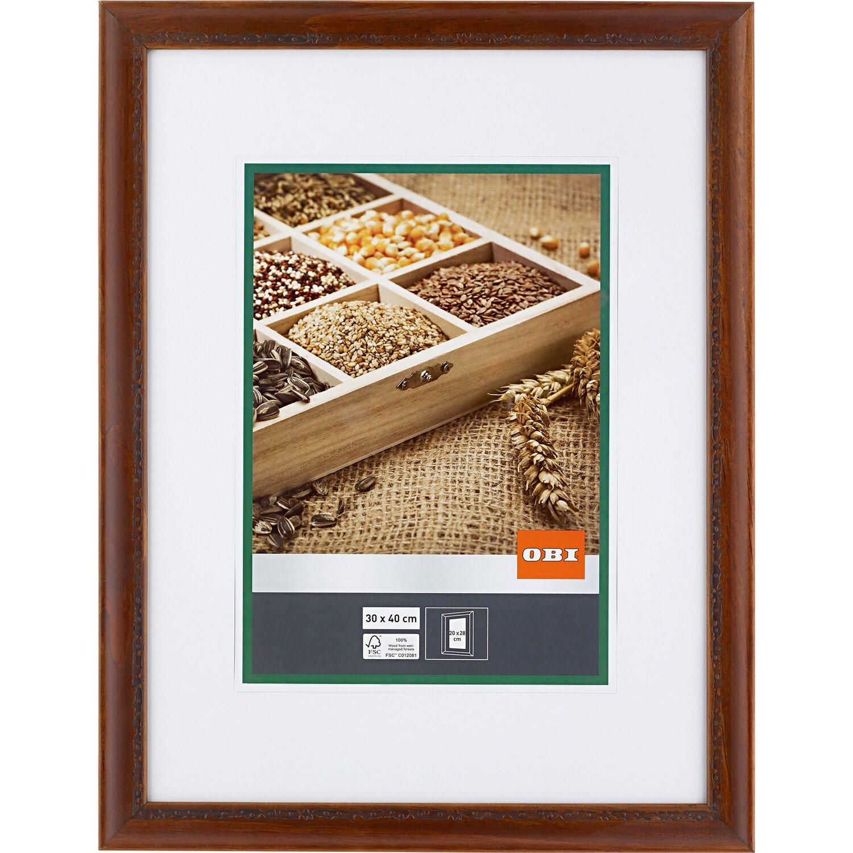 Bilderrahmen Holz Rustikal obi holz bilderrahmen rustikal 30 cm x 40 cm kaufen bei obi