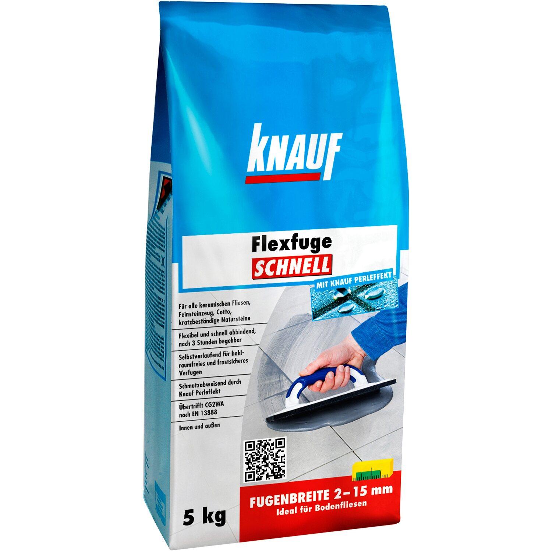 Knauf  Flexfuge Schnell Silbergrau 5 kg