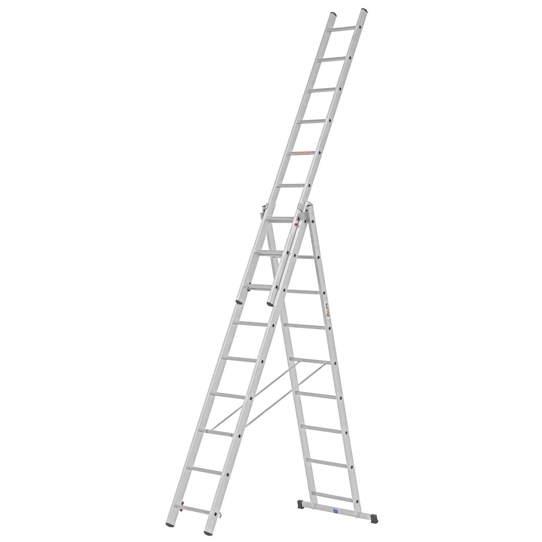 Alpe  Allzweck-Leiter 3 x 9 Sprossen Arbeitshöhe 5,91 m