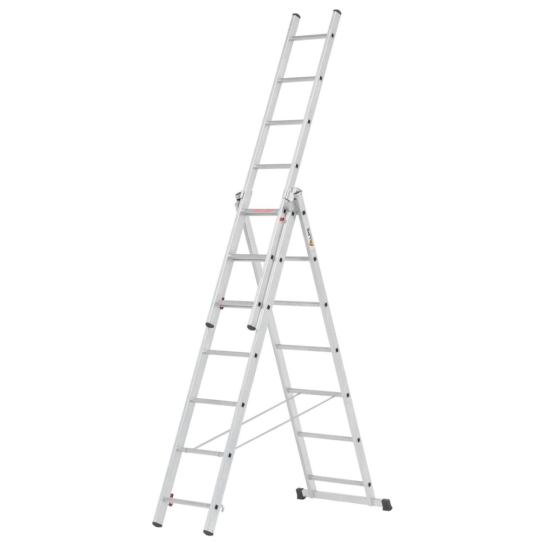 Alpe  Allzweck-Leiter 3 x 7 Sprossen Arbeitshöhe 4,60 m