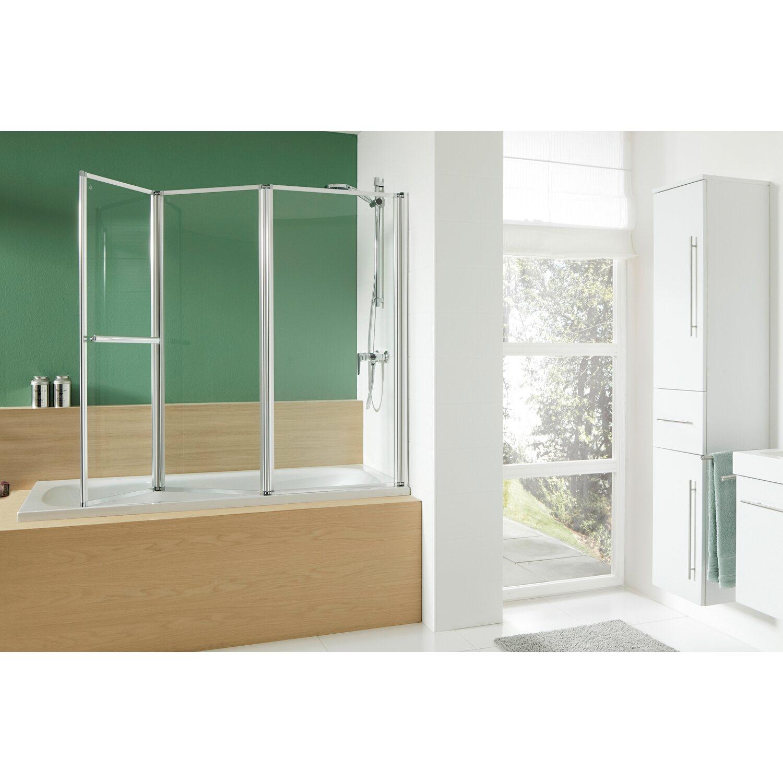Obi Badewannenaufsatz Mit Handtuchhalter Mela Iii Echtglas 140 Cm X