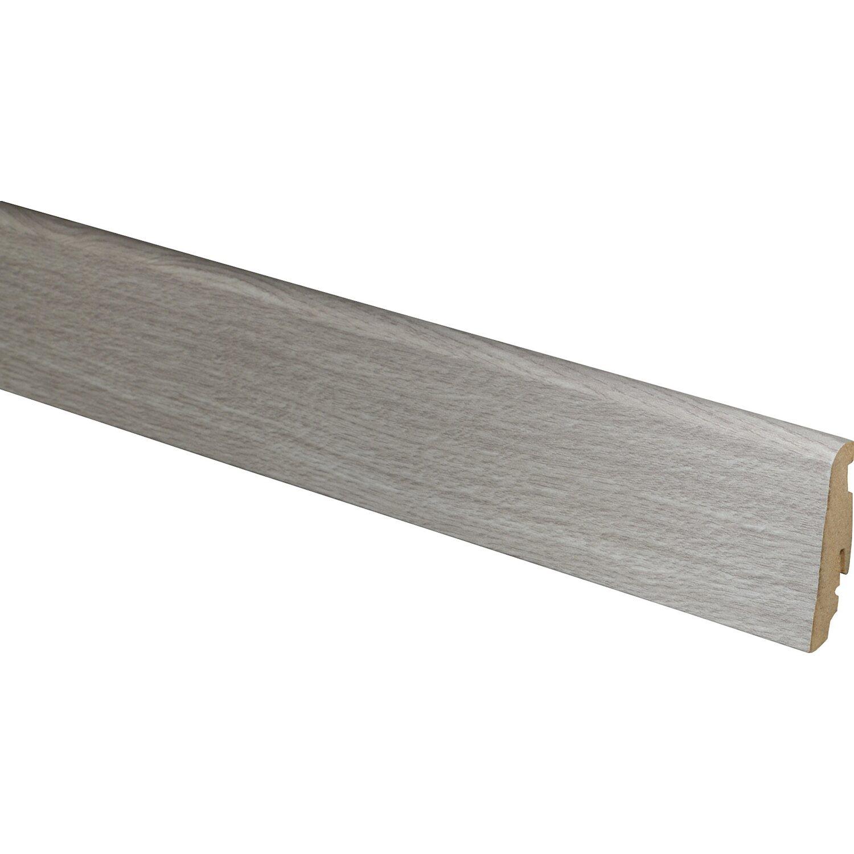 Sockelleiste fu060l eiche wei grau 19 mm x 58 mm x 2400 mm for Obi dekorfolie