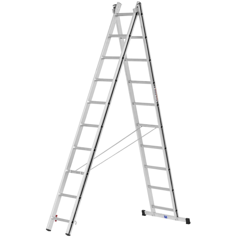 Hymer  Allzweck-Leiter 2 x 10 Sprossen Arbeitshöhe 4,89 m