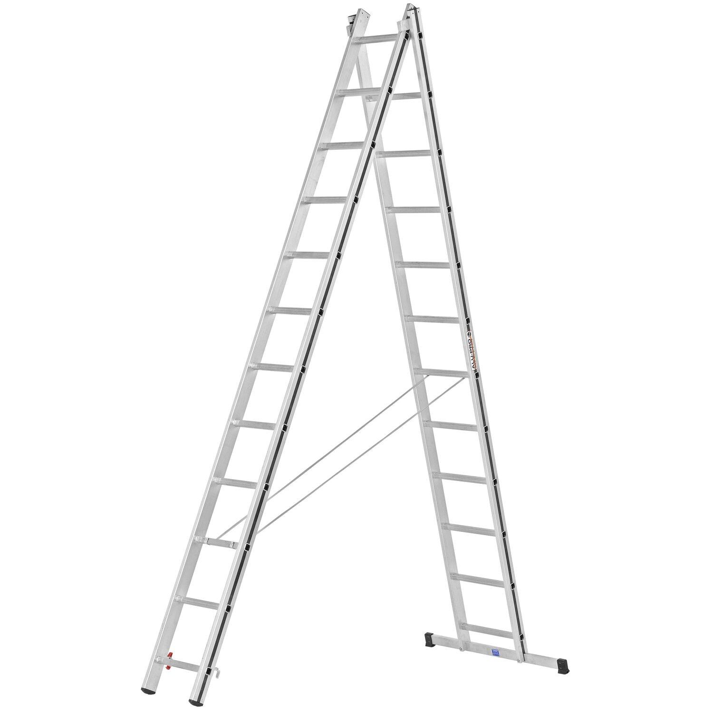 Hymer  Allzweck-Leiter 2 x 12 Sprossen Arbeitshöhe 5,98 m