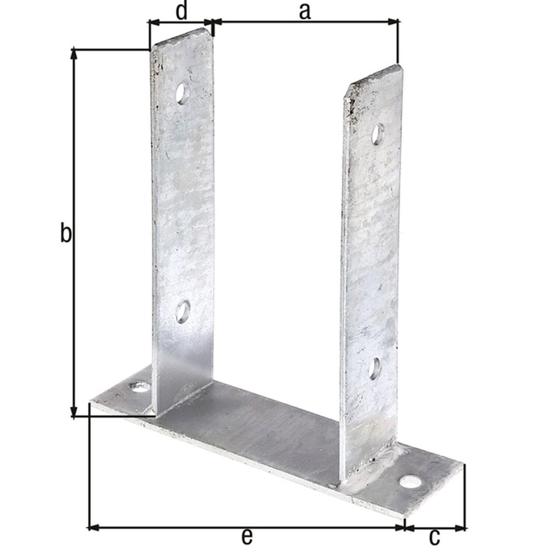 u pfostentr ger zum anschrauben feuerverzinkt 116 mm x 200 mm x 60 mm kaufen bei obi. Black Bedroom Furniture Sets. Home Design Ideas