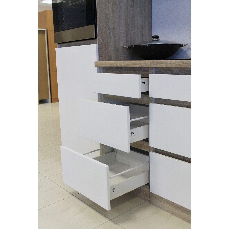 respekta k chenzeile glrp320hesw grifflos 320 cm wei hochglanz sonoma eiche kaufen bei obi. Black Bedroom Furniture Sets. Home Design Ideas