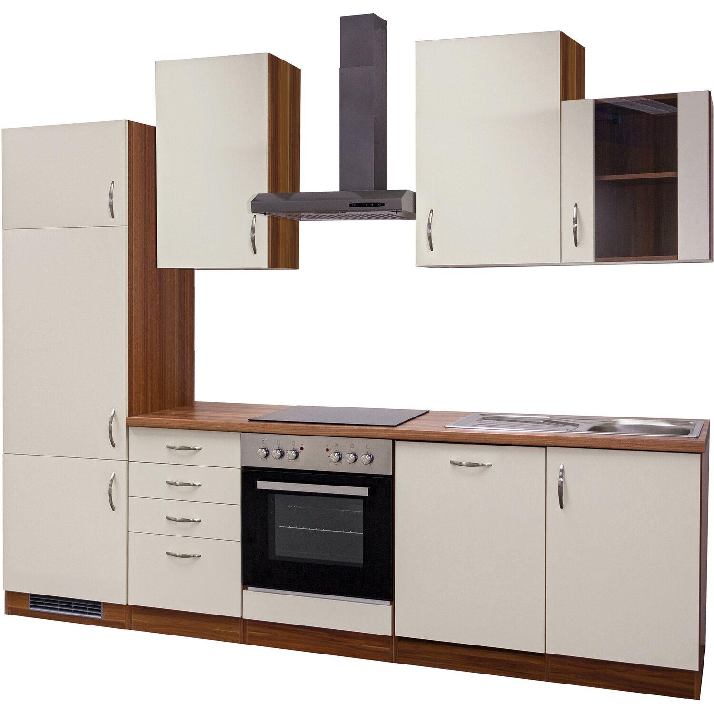 Flex-Well Exclusiv Küchenzeile Sienna 280 cm Creme-Zwetschge ...
