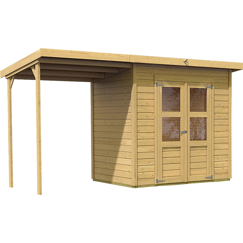 anbaudach f r holz gartenhaus vellinge 4 5 natur 162 cm. Black Bedroom Furniture Sets. Home Design Ideas