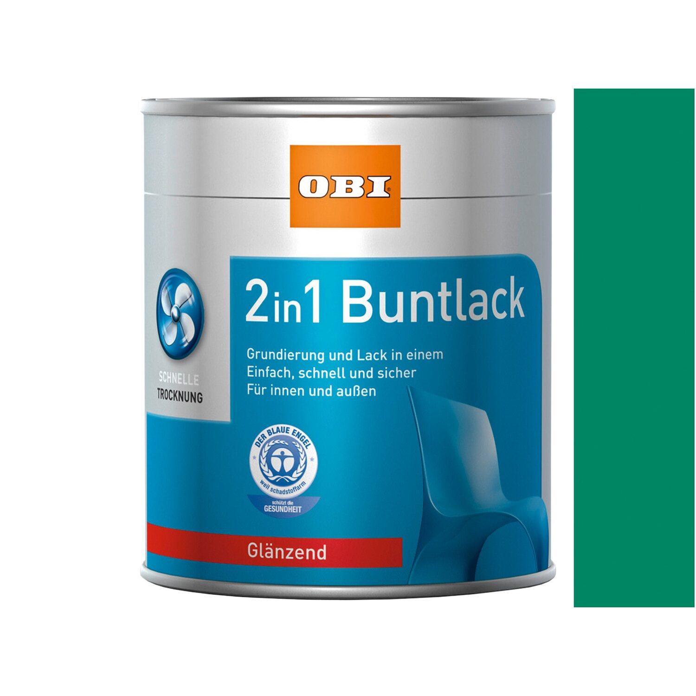OBI  2in1 Buntlack Bergischgrün glänzend 375 ml
