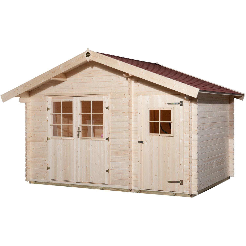 weka holz gartenhaus brixen mit satteldach natur b x t 370 cm x 250 cm kaufen bei obi. Black Bedroom Furniture Sets. Home Design Ideas