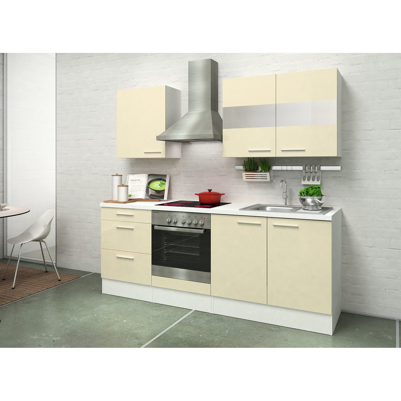 Respekta Premium Küchenzeile RP210WVAC 210 cm Vanille-Weiß kaufen ...