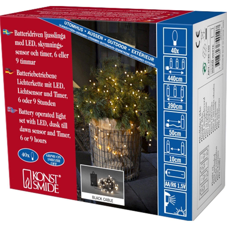 konstsmide led lichterkette globes 40 warmwei e leds mit timer innen und au en kaufen bei obi. Black Bedroom Furniture Sets. Home Design Ideas