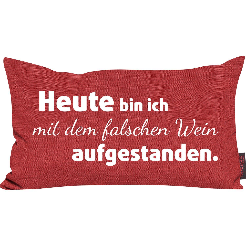 gef lltes spr che kissen bordeaux 30 cm x 50 cm kaufen bei obi. Black Bedroom Furniture Sets. Home Design Ideas